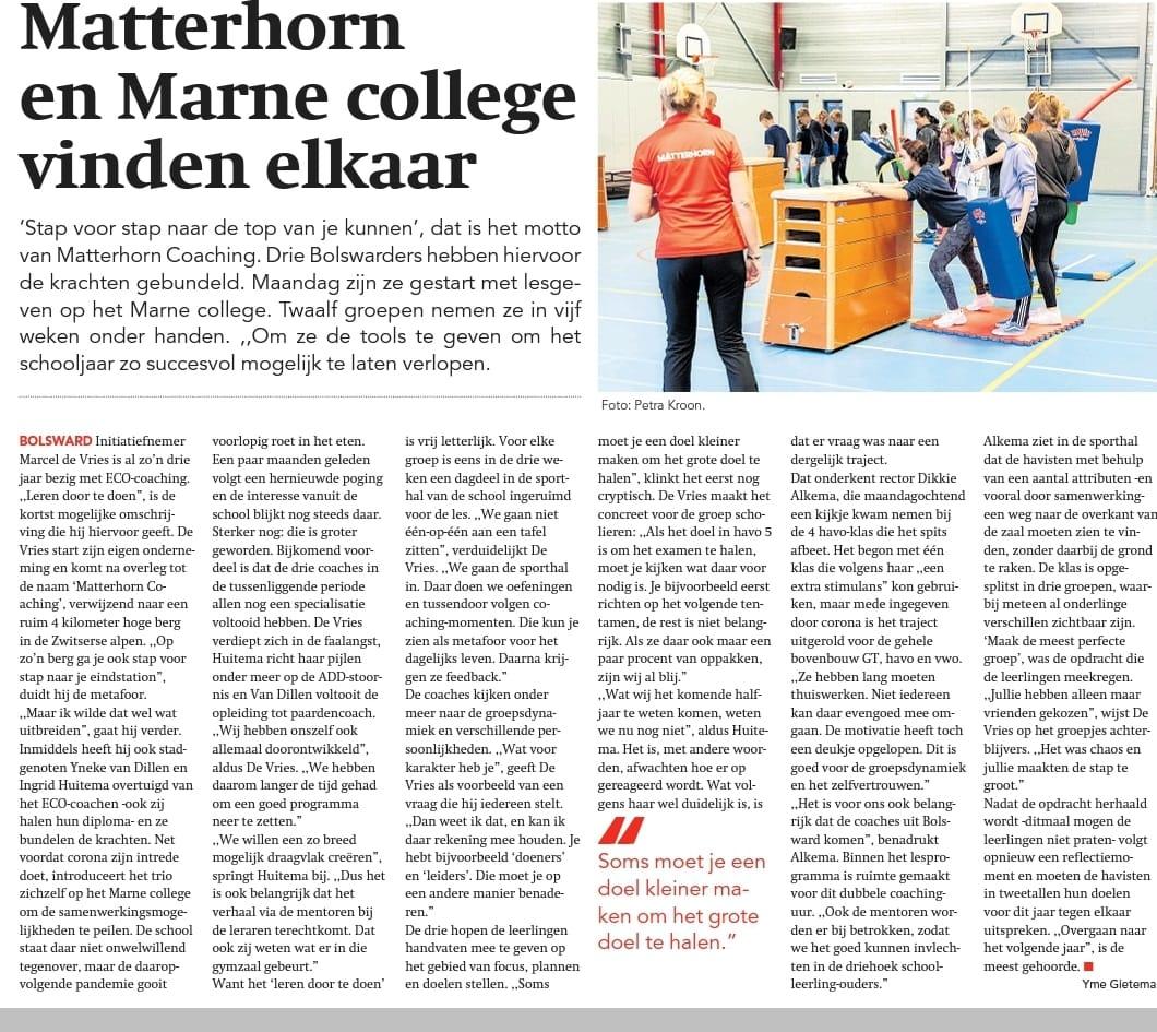Matterhorn en Marne college vinden elkaar